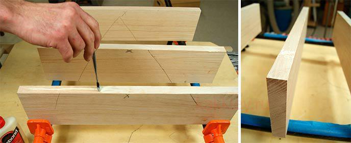 Как сделать мебельный щит. Склейка мебельного щита