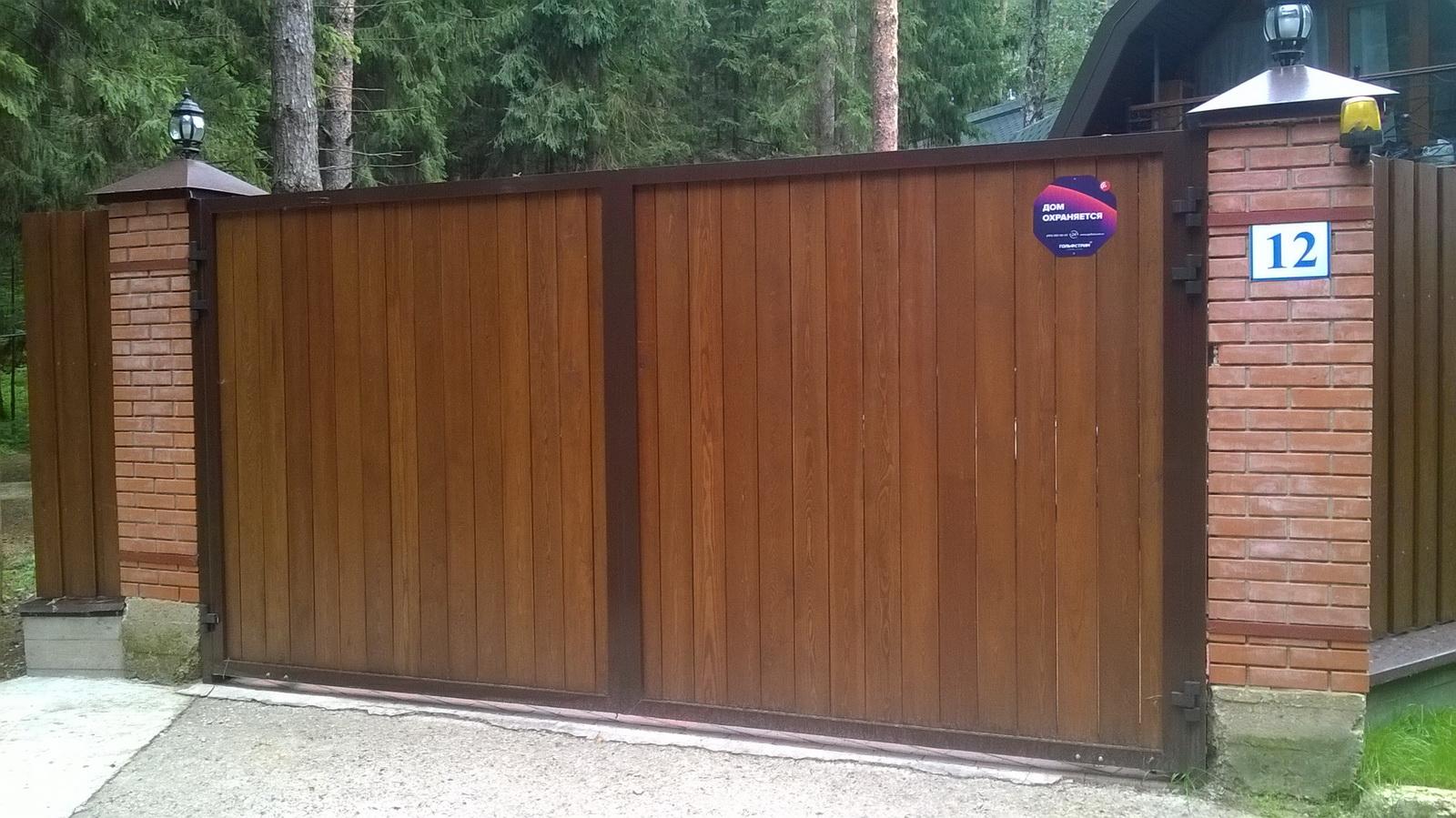 Деревянные ворота: какими бывают
