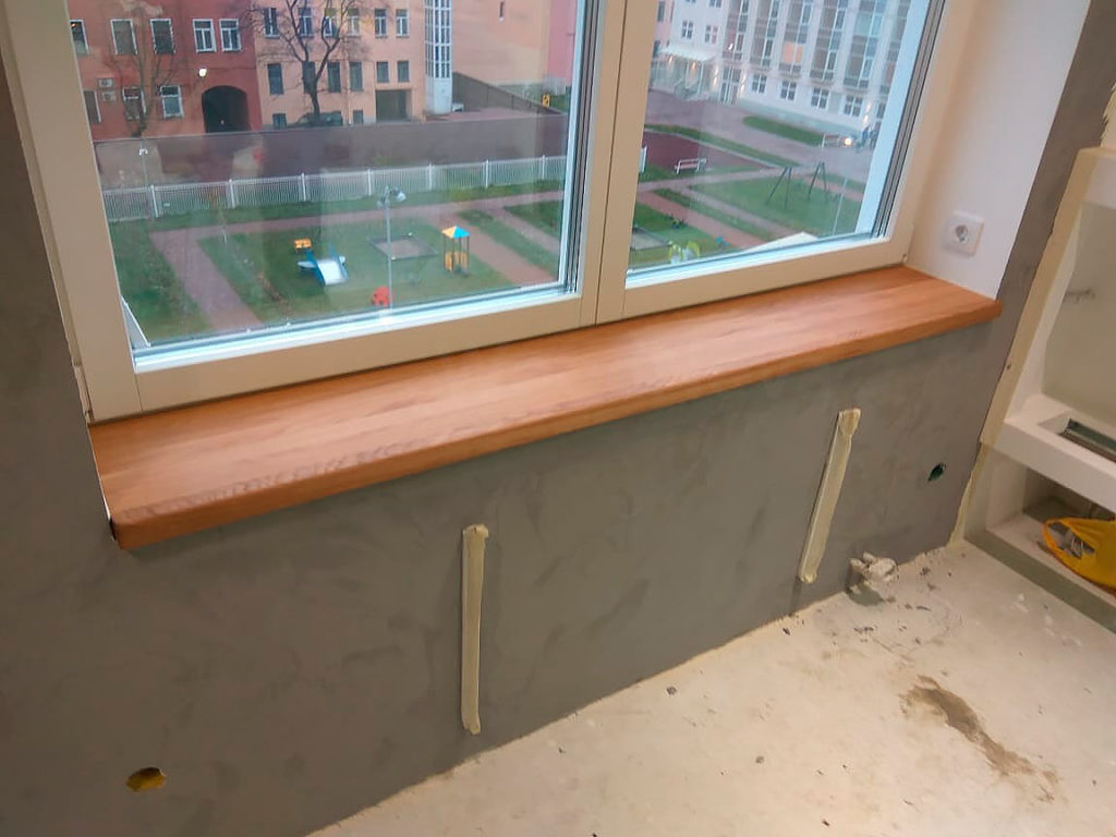 Пластиковые окна деревянные подоконники фото