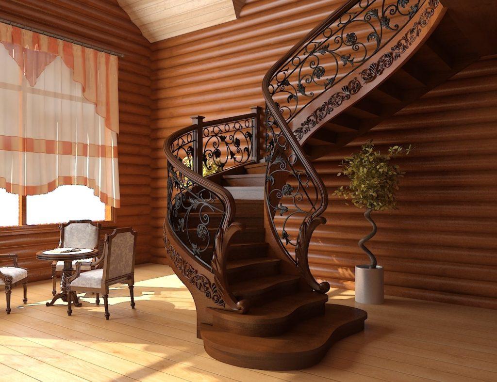 Винтовая лестница – стильная малогабаритная конструкция
