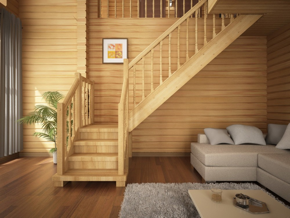 Устройство лестницы в деревянном доме