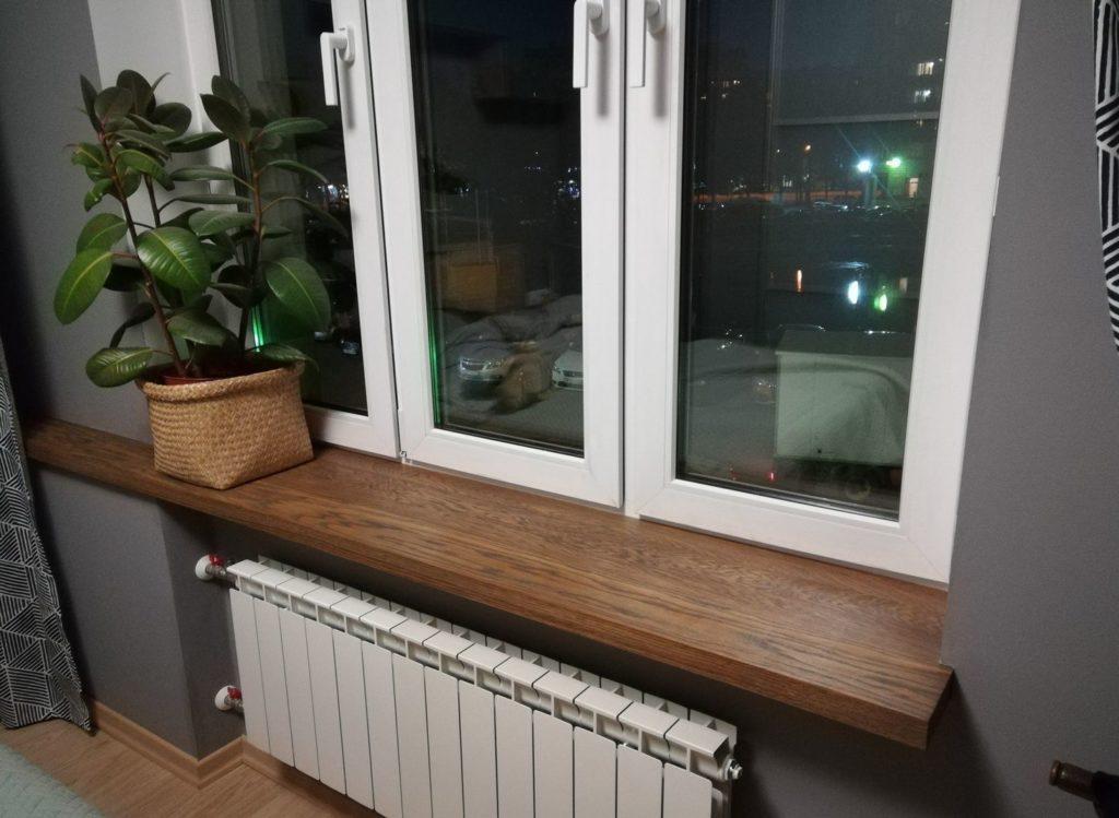 Деревянные подоконники в доме: плюсы и минусы