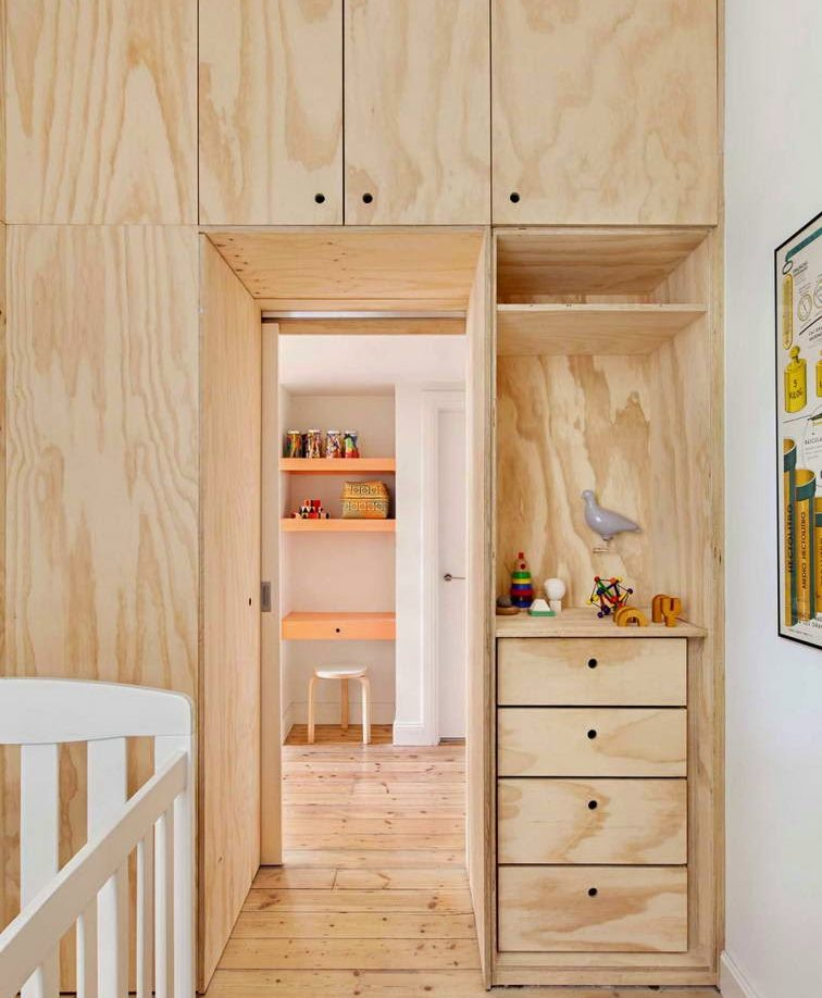 шкаф из мебельного щита картинка